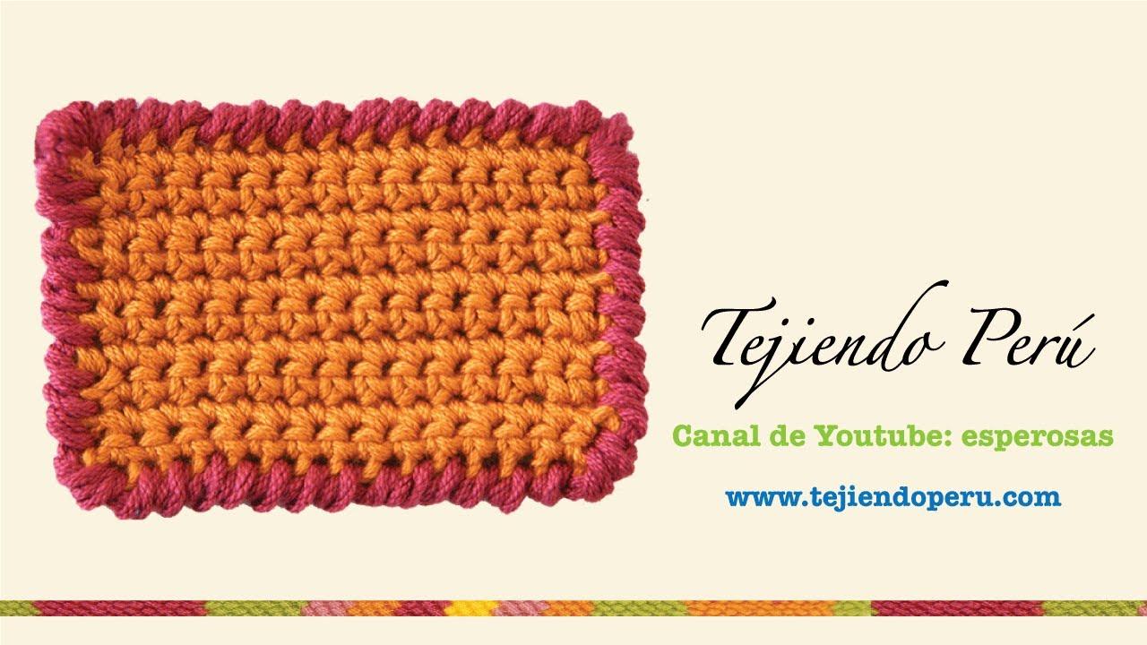 Crochet: punto cangrejo - YouTube