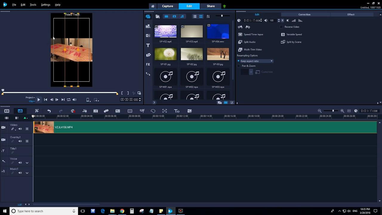 Rotating Clips in Corel VideoStudio 2018