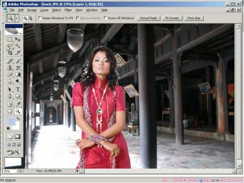 7iun Huong Dan Photoshop CS3 -  Cach Loai Bo Vung Trang Tren Anh 38/39