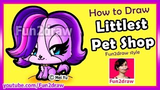How to Draw A Littlest Pet Shop - A Fun2draw twist(Learn How to Draw for kids step by step easy! This drawing tutorial shows you how to draw a Littlest Pet Shop character (Zoe Trent - Fun2draw style)., 2015-04-16T19:00:01.000Z)