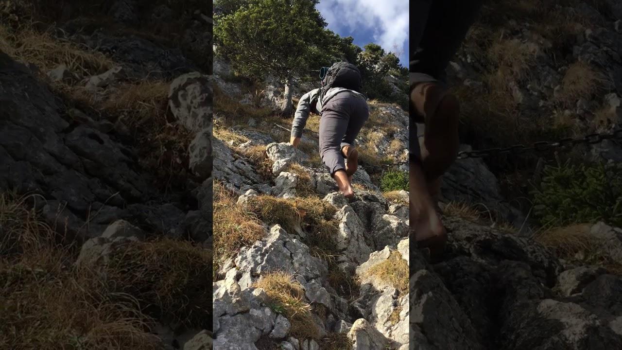 Klettersteig Am Ettaler Mandl : Klettersteig ettaler mandl barfuß youtube