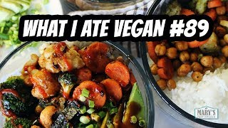 HEALTHY VEGAN RECIPES + NEW VEGAN SNACKS // WHAT I ATE IN A DAY #89 | Mary