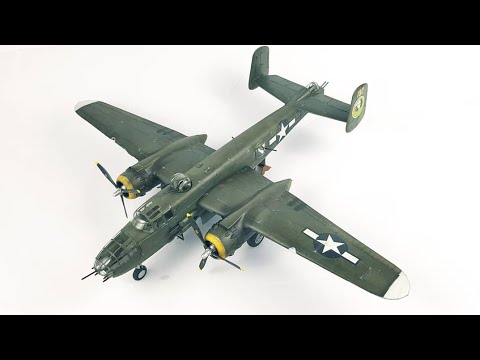 B-25J Mitchell 1/48 Revell Quick build time lapse Video