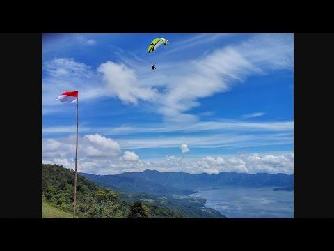 Maninjau lake paragliding. West Sumatra 2017