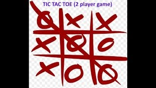 Game TIC TAC Toe 2 players online free screenshot 1