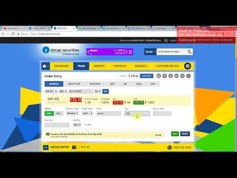 HOW TO PLACE ORDER IN SBI SMART TRADING PORTAL