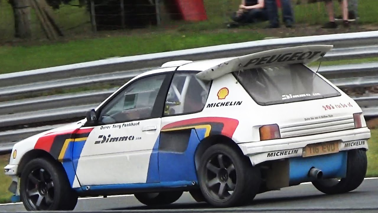 peugeot 205 t16 evo 2 group b replica monster accelerations on track youtube. Black Bedroom Furniture Sets. Home Design Ideas