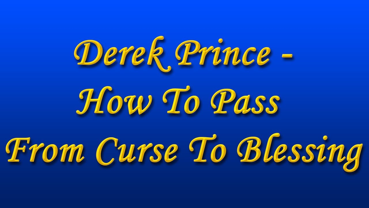 The prayer to release you of all curses–now «