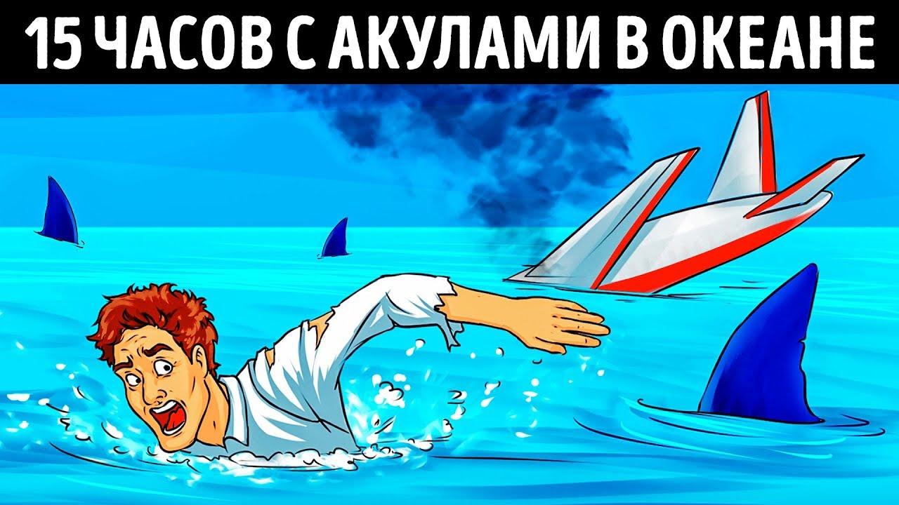 Пилот попал в авиакатастрофу и провел 15 часов с акулами в океане