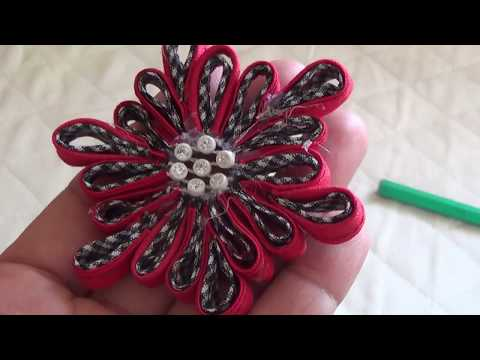 Easy & Simple Fabric Flower Make With Piping Diy,easy To Make At Home