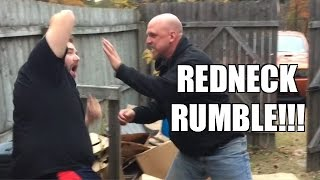REDNECK NEIGHBOR BACKYARD RUMBLE!!