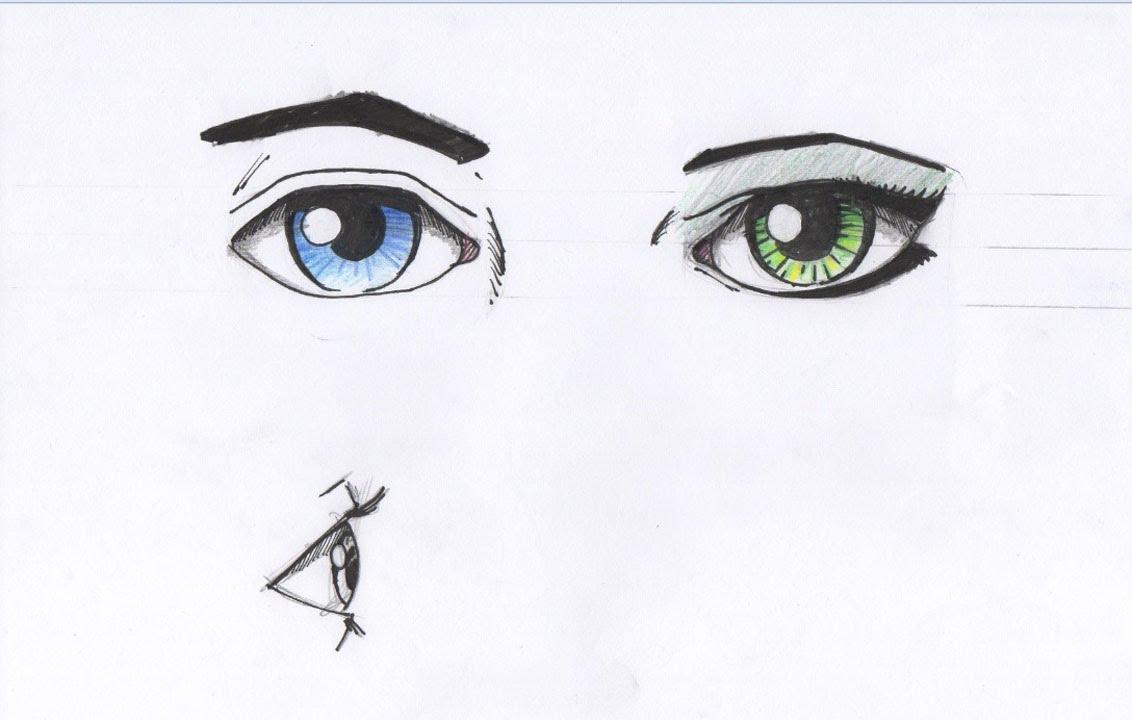 how to draw eyes male vs female eye for beginners youtube