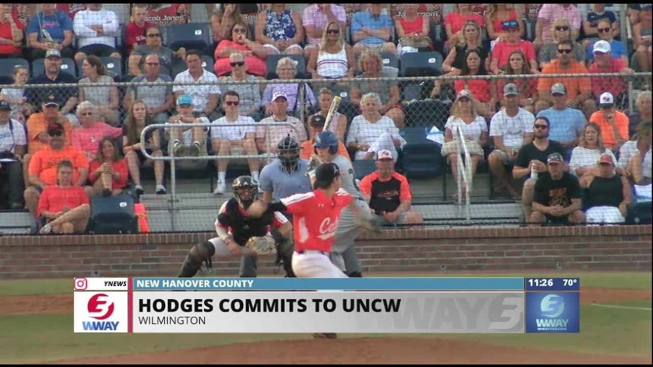New Hanover baseball standout Hunter Hodges commits to UNCW