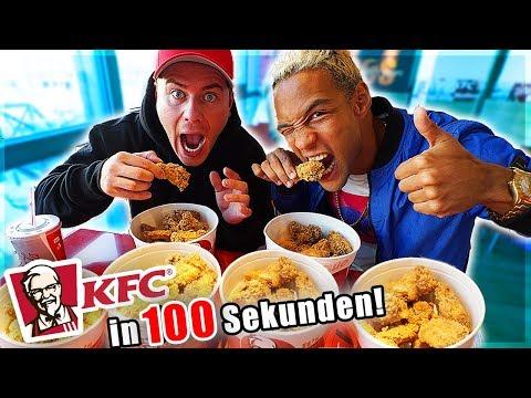 100 KFC Chickenwings in 100 SEKUNDEN essen!! 😧 (Weltrekord gebrochen?)