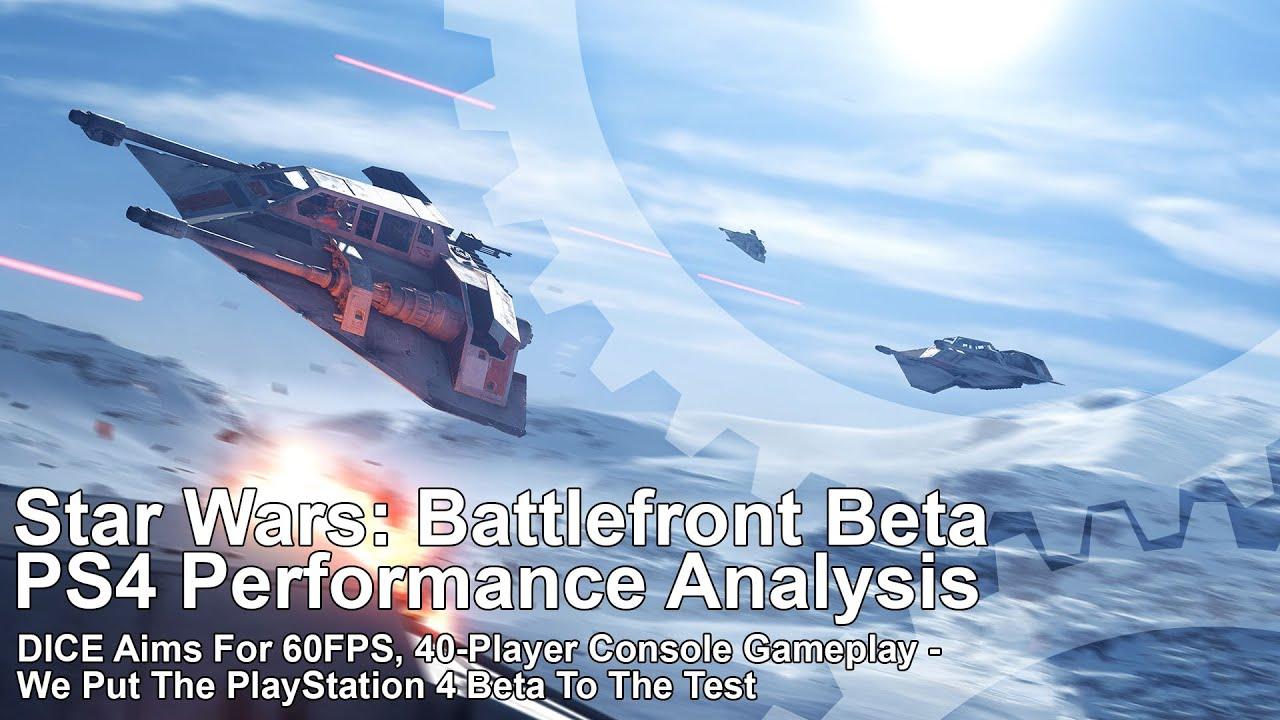 Performance Analysis: Star Wars Battlefront beta on PS4