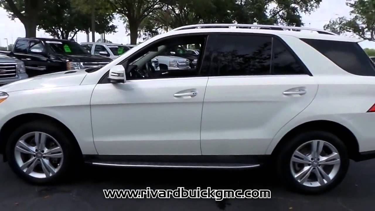 used 2013 mercedes benz ml350 for sale at rivard buick gmc f1156a youtube. Black Bedroom Furniture Sets. Home Design Ideas