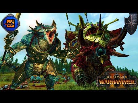 THUNDER & LIGHTNING - Lizardmen Last Defenders vs. Chaos - Total War Warhammer 2 |