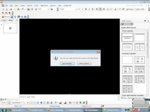 Hướng dẫn chèn video vào slide