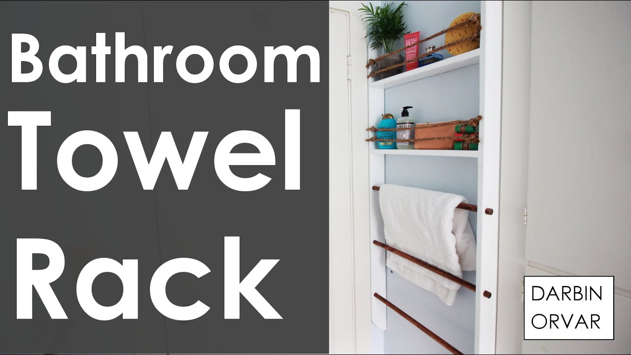 DIY Bathroom Towel Rack   YouTube