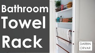 DIY Bathroom Towel Rack