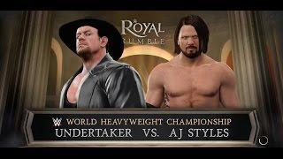 WWE 2K17 Royal Rumble - AJ Styles vs. Undertaker (EPIC WWE Championship Match) 1080p 60FPS