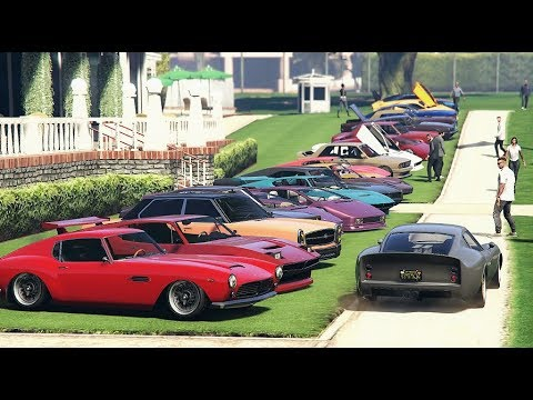 INSANE GTA 5 RETRO ONLINE CAR MEET