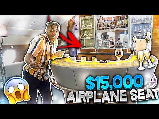 Im at the BAR sippin henny IN THE SKY!! (2-Level $15,000 Emirates AIRPLANE SEAT)