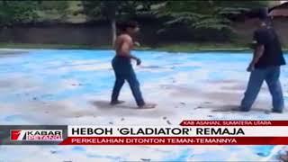 Heboh Duel Ala 'Gladiator' Siswa SMA di Asahan Sumut