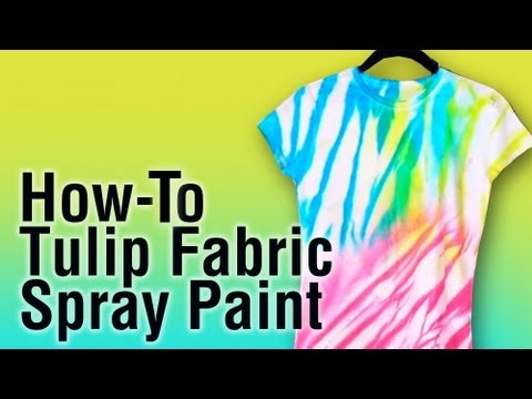 how to use tulip fabric spray paint youtube. Black Bedroom Furniture Sets. Home Design Ideas