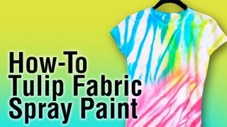 How-To Use Tulip Fabric Spray Paint