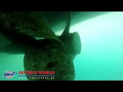 Underwater propeller cleaning before and after