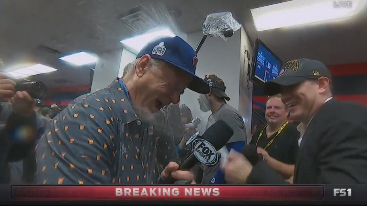 cc6f3e97541 Watch Bill Murray Celebrate World Series Victory With The Chicago ...