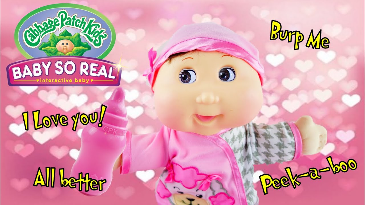 Cabbage Patch Kids Baby So Real Interactive Baby Doll