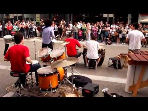 Kutapira.  Cuban and Afro Beat Music live on Granville Street, Vancouver