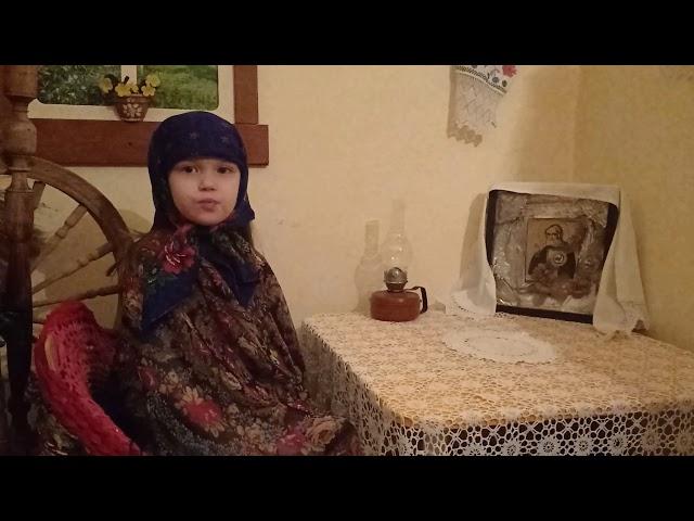 Изображение предпросмотра прочтения – ЮлияЛавкова читает произведение «Молитва матери» С.А.Есенина