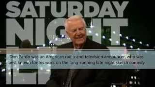 Don Pardo - Voice of Saturday Night Live Died