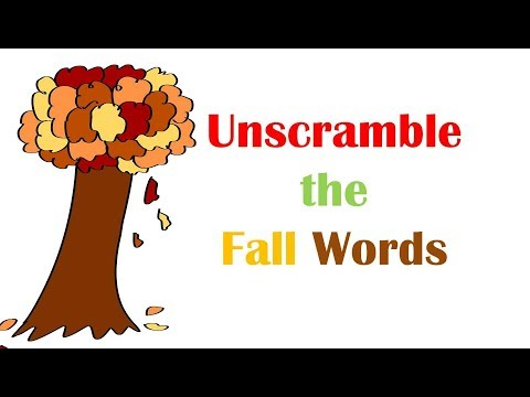 Unscramble the Fall Words