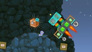 Bad Piggies - FORCE ROBOT PIG TO CRATE WITH TNT JETPACK!