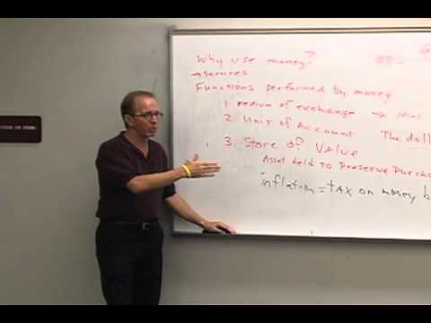 Money and Banking: Lecture 3 - Functions of Money 2