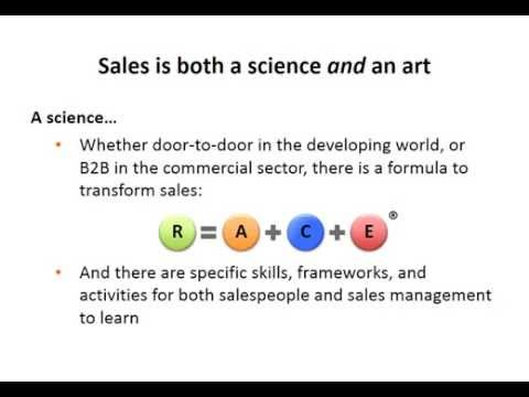Sales is both a science and an art
