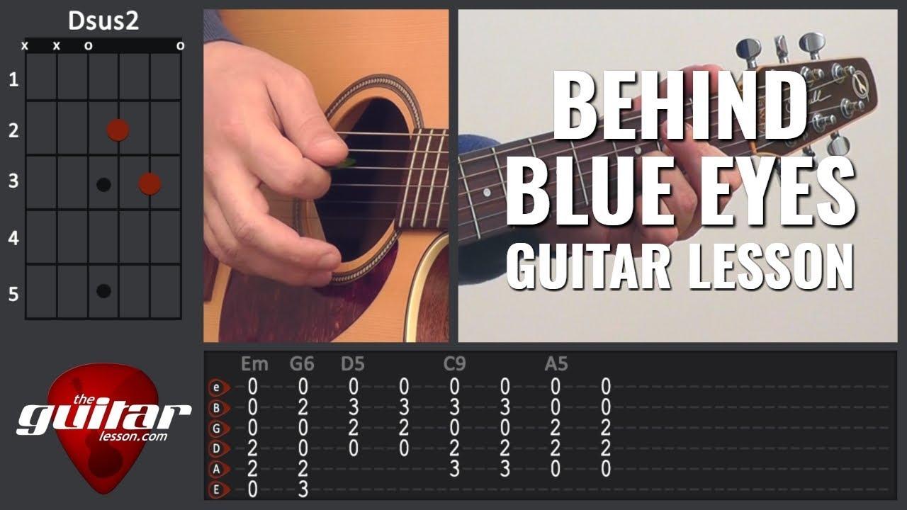 Behind Blue Eyes guitar lesson | Limp Bizkit