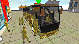 Real Military Coach Simulator#18 - Army Bus Driver US Soldier Transport Duty - Android GamePlay screenshot 2