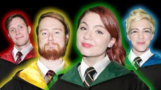 MAKING OUR HARRY POTTER WANDS! Pottermore Hogwarts House Challenge