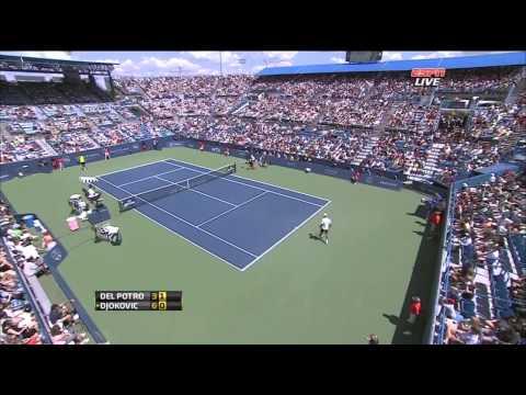 ATP 2012 Cincinnati SF Del Potro vs Djokovic ENG