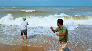 IMPRESSIONANTE O TAMANHO DESSE PEIXE | Pescaria de Praia sempre com suas Incríveis Surpresas