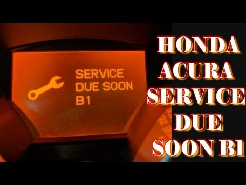 Honda Acura Service Due Soon B1 Youtube