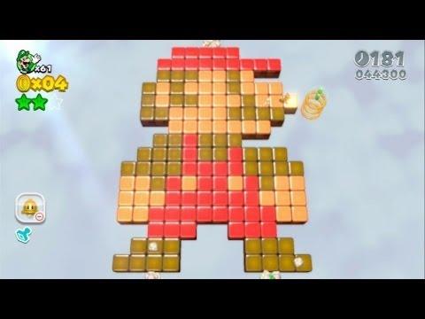 Super Mario 3D World 100% Walkthrough Part 11 - World 5 (5-3, 5-A, 5-4, 5-5) Green Stars & Stamps
