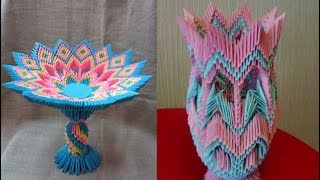 Модульное оригами ваза для конфет
