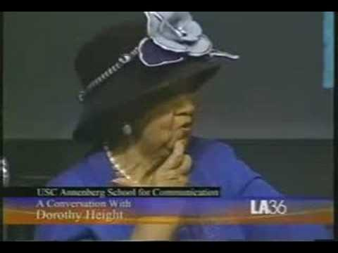 @Annenberg with civil rights leader Dorothy Height