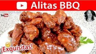ALITAS BBQ BARBECUE WINGS | Vicky Receta Facil